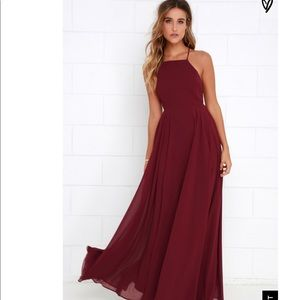 MYTHICAL KIND OF LOVE WINE RED MAXI DRESS LULUS